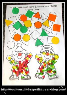 The little juggling clowns . - My Hobbies Preschool Circus, Circus Activities, Preschool Activities, Clowns For Kids, Act For Kids, Theme Carnaval, Clown Images, Carnival Crafts, Le Clown