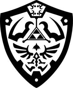 Legend Of Zelda Tattoos, The Legend Of Zelda, Zelda Logo, Shield Template, Shield Tattoo, Shield Vector, Zelda Twilight Princess, Stencil Art, Stencil Cutter