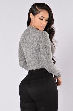 She's A Diva Bodysuit - Grey