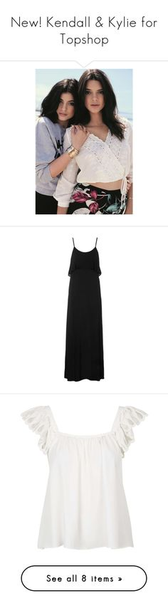 """New! Kendall & Kylie for Topshop"" by polyvore-editorial ❤ liked on Polyvore featuring topshop, kendall jenner, kendall, kylie, dresses, vestidos, robe, long dresses, maxi dress and black"