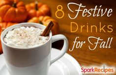 8 Fun & Festive Fall Drinks. Yummmmmmmmm. Putting all of these on my fall bucket list! | via @SparkPeople #fall #drinks #recipes