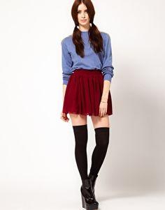 Hearts & Bows Skater Skirt ASOS