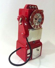 Relógio Miniatura - Telefone - Versare Anos Dourados - A 8  x L 3 x P 2,5 - R$ sem estqoue