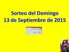 Sorteo Domingo 13 de Septiembre 2015 Loteria Nacional de Panama