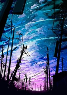 Shared by Mackenzie. Find, share, and collect images about anime, sky and art on We Heart It - the app to get lost in what you love.