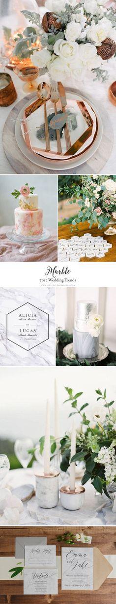 Top 10 Wedding Trends for 2017 - Chic Vintage Brides Top Wedding Trends 2017 - Marble. Gifts For Wedding Party, Diy Wedding, Wedding Flowers, Dream Wedding, Wedding Ideas, Fantasy Wedding, Perfect Wedding, Wedding Decor, 2017 Wedding Trends