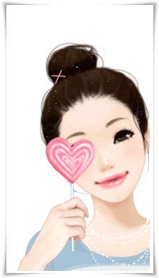 Pretty Girl With Love Lolly For Phones Cartoon Pics, Cute Cartoon, Kawaii Cute, Kawaii Anime, Girls In Love, Cute Girls, Girls Magazine, Anime Dolls, Happy Art