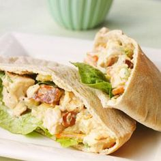 Almonds add crunch to the filling, though you can substitute toasted walnuts or pecans, if you prefer. Serve this pineapple chicken salad pita recipe with a side of baked potato chips to round out the meal.