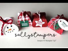 Let It Snow 2 Mini Curvy Keepsake - Sallystampers Christmas Gift Box Template, Stampin Up Christmas, Handmade Christmas, Christmas Cards, Origami Templates, Box Templates, Altered Boxes, Pillow Box, Toy Craft