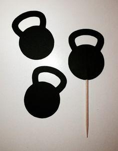 Twenty Four 24  Kettlebell Cupcake Toppers by CricutCraftyCuts