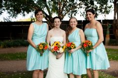 Casual Fall Bridesmaids