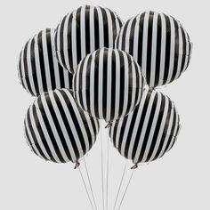 Balloons #blackandwhite #stripes #decor