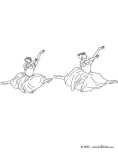 Scene with 2 ballet dancers coloring page. If you like this Scene with 2 ballet dancers coloring page, share it with your friends. Dance Coloring Pages, Sports Coloring Pages, Sleeping Beauty Ballet, Ballet School, Ballet Dancers, Colouring, Murals, Scene, Bag