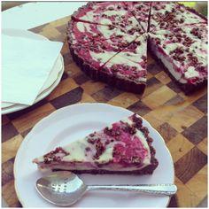 White Choc Raspberry Tart