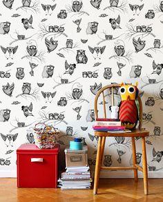 """Owls"" wallpaper from Mini Empire"