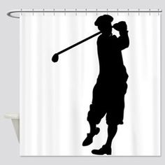 Shop unique Golf Shower Curtains from CafePress. Great designs on professionally printed shower curtains. Golf Theme, Silhouette, Curtains, Shower, Prints, Design, Rain Shower Heads, Blinds