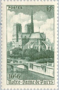 Notre-dame De Paris Stamp by Lanjee Chee Paris France, Postage Stamp Art, Beautiful Paris, Vintage Stamps, Sale Poster, Mail Art, Stamp Collecting, Painting, Zoom