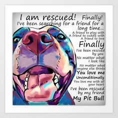 I am rescued Art Print by Cartoon Your Memories - $22.88