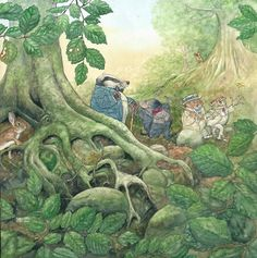 Angel Dominguez - Book illustration for an edition of The Wind in the Willows Kenneth Graham, 2016 Picture Story Books, Kids Story Books, Children's Book Illustration, Watercolor Illustration, Book Illustrations, Watercolour, A Level Art, Art Graphique, Vintage Children's Books