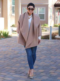 mimi g's camel cape coat pattern | Mimi G Style: UPDATED LINKS: DIY Oversized Camel Jacket + Pattern ...