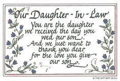 Best Quote For Daughter In Law