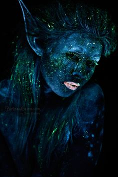 Black Fairy Makeup | fairy makeup tutorial 01 blacklight photography pieke roelofs fairy ...