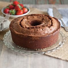 Chocolate Pound Cake -- This cold-oven Chocolate Pound Cake has 