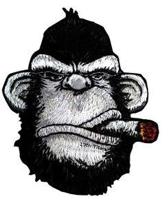 #Gorilla #Embroidery #Bordados #Monkey