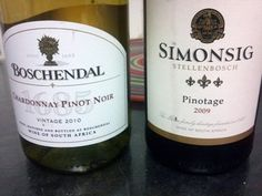 Two of the South African wines paired with soft-shell crabs