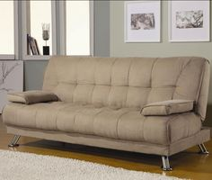 sofá cama beige