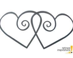 """Heart metal wall art decor in silver vein powder coat, 15""""W x 7.5""""H, laser cut from steel"""