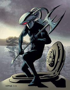 Aquaman foe and Suicide Squad member Black Manta Comic Book Artists, Comic Books Art, Comic Art, Aquaman, Comic Book Villains, Black Manta, Arte Dc Comics, Deathstroke, Dc Characters