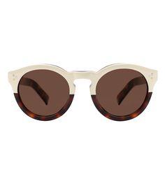 ShopBazaar Illesteva Leonard II Half Cream Half Havana Sunglasses MAIN