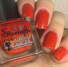 Strength | A Fiery Pretty Fierce Indie Nail Polish by Sleeping Medusa #Nail #Nails