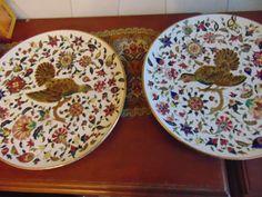 RUDOLF DITMAR ZNAIM 2 WALL-PLATE 32 CM 1880  -CZ-BOHEMIA-- Plates On Wall, Art Decor, Ceramics, Tableware, Bohemia, Ceramica, Pottery, Dinnerware, Dishes