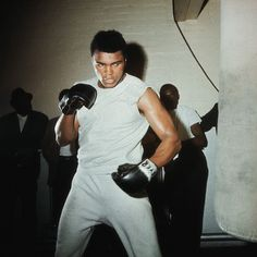 Muhammad Ali in training.
