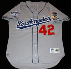 Authentic Los Angeles Dodgers Russell costumized Jersey size 52
