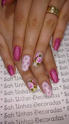 Hottest Trends for Acrylic Nail Shapes Purple Nail Art, Pink Nails, Cute Spring Nails, Summer Nails, Nail Designs Spring, Toe Nail Designs, Different Nail Shapes, Acrylic Nail Shapes, Finger Nail Art