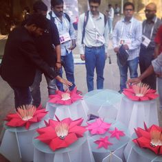 Something we loved from Instagram! We worked on this beautiful interactive art installation at TEDxHyderabad. Behind the scenes and story soon. Love the kind of things we get to work on at @collabhousein lead designer: Priyanka Prelab. #design #art #artinstallation #collaboration #origami #raspberrypi #IoT #DIY #Maker #Hacker #Foamboard #3Dprinting #sensors #nature #innovation #TEDxHyderabad #community #arduino #breadboard #electronics by vineelreddy Check us out http://bit.ly/1KyLetq