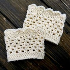 Lacy Crochet Boot Cuff Free Pattern