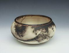 Copper banded horse hair bowl by DakotaBones on Etsy