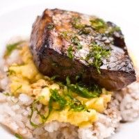 Grilled Sea Bass Donburi