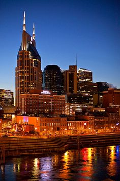 Downtown Nashville, Tennessee.