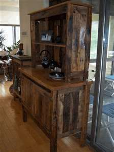 Wood Pallets recycled-  if I do this, I'm getting rid of the other curio cabinets in my home.