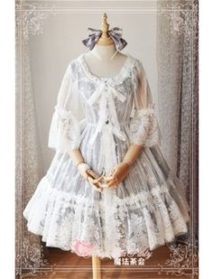 Magic Tea Party ~Summer Fragrance ~Lace Hime Sleeves Lolita Surface Layer Dress