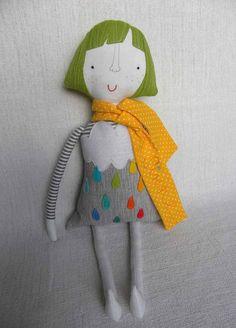 Girly doll CUSTOM ORDER by krakracraft on Etsy