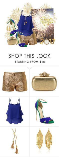 """""""nr 685 / Happy New Year 2017 ♥"""" by kornitka ❤ liked on Polyvore featuring Lanvin, Alexander McQueen, Doublju, Casadei, Chloé and Magdalena Frackowiak"""