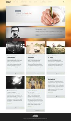 Minelog Blog - Responsive HTML5   Writers, Web design and ...