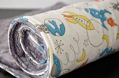 """Minky Baby Blanket Birch Fabric 28x34"""" $48"""