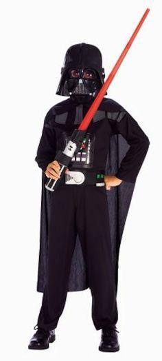 Los 10 disfraces infantiles más vendidos para Carnaval,  Disfraz infantil de Darth Vader, un personaje clásico de Star Wars que no pasa de moda.